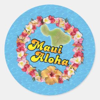 Sticker Rond Maui Aloha