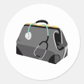 Sticker Rond Médecins Bag