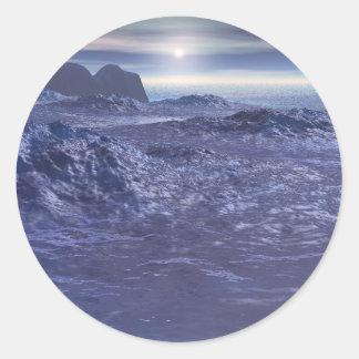 Sticker Rond Mer congelée de Neptune