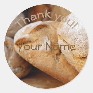 Sticker Rond Merci personnalisé de || Bread||