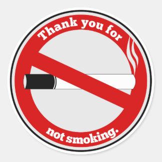 Sticker Rond Merci pour le tabagisme