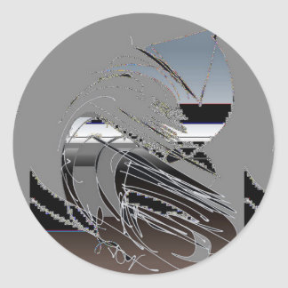 Sticker Rond Metalli