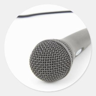 Sticker Rond Microphone - entretien à moi