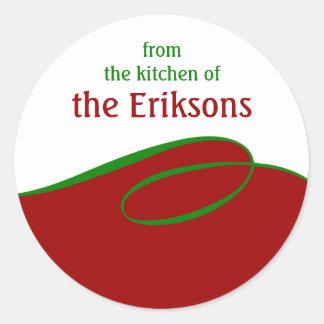 Sticker Rond Mise en boîte personnalisée de cuisson de remous