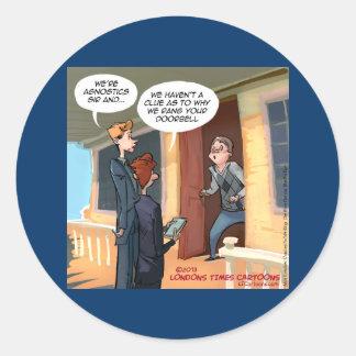 Sticker Rond Missionnaires agnostiques drôles