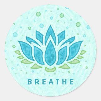 Sticker Rond Modèle des textes du zen | de fleur de Lotus de