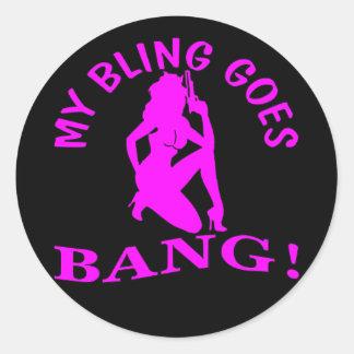 Sticker Rond Mon Bling va le COUP 2
