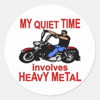 Sticker Rond Mon temps tranquille fait participer le cycliste