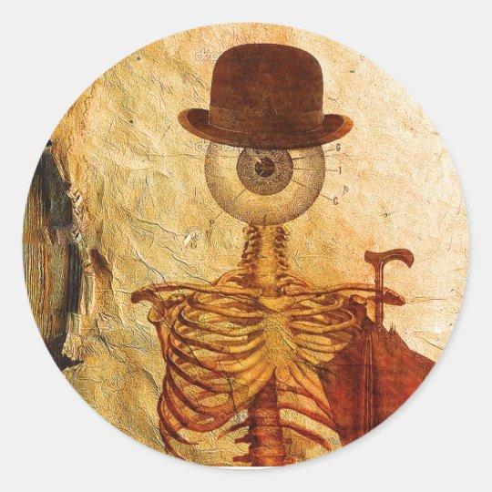 Sticker Rond Monsieur Bone