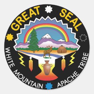 Sticker Rond Montagne blanche Apache