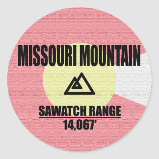 Sticker Rond Montagne du Missouri