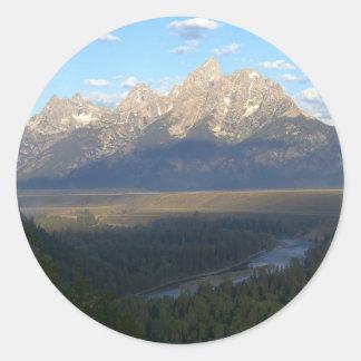 Sticker Rond Montagnes de Jackson Hole (parc national grand de