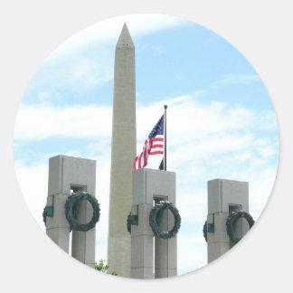 Sticker Rond Monument et 2ÈME GUERRE MONDIALE de Washington