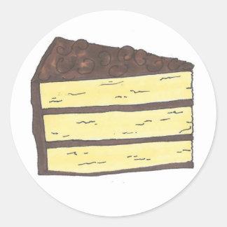 Sticker Rond Morceau de fin gourmet de tranche de couche de