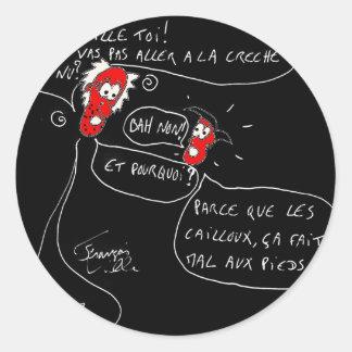 Sticker Rond Mot d'enfant - Francois Ville