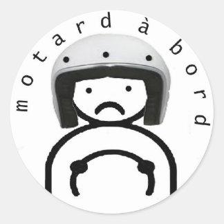 Sticker Rond MOTARD à BORD