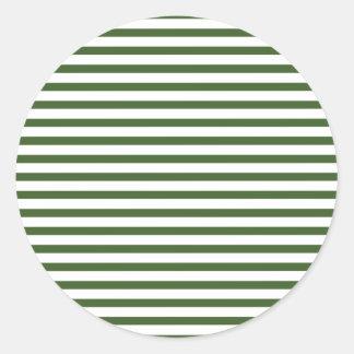 Sticker Rond Motif moderne blanc et vert de filets