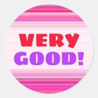 Sticker Rond Motif rose et pourpre d'amusement, heureux, Girly