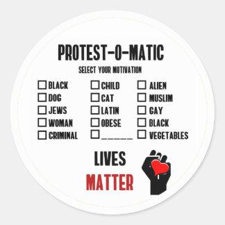 Sticker Rond Motivation à la protestation