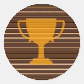 Sticker Rond Motivation de DECO d'AMUSEMENT de gagnant de tasse