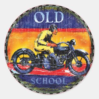 Sticker Rond Motos de cru de vieille école