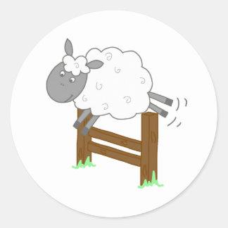Sticker Rond Moutons sautants de bande dessinée