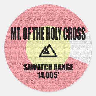 Sticker Rond Mt. De la croix sainte