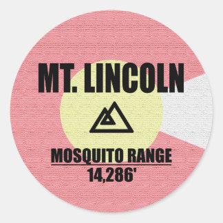 Sticker Rond Mt. Lincoln