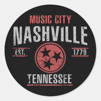 Sticker Rond Nashville