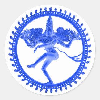 Sticker Rond Nataraja bleu
