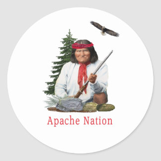 Sticker Rond Nation d'Apache