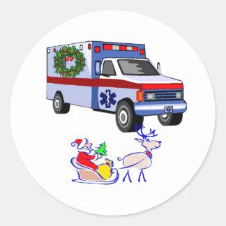 Sticker Rond Noël EMT de SME et infirmier