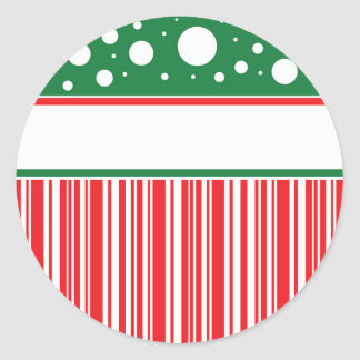 Sticker Rond Noël farfelu