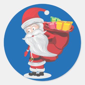 Sticker Rond Noël père Noël