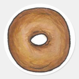 Sticker Rond Nourriture classique de bagels de New York City