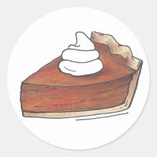 Sticker Rond Nourriture de Thanksgiving de cuisson de tranche