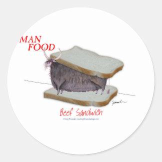 Sticker Rond Nourriture élégante de l'homme de Fernandes -