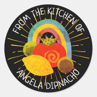 Sticker Rond Nourriture mexicaine de Salsa de la cuisine de
