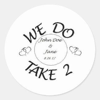 Sticker Rond Nous Faire-Prise 2