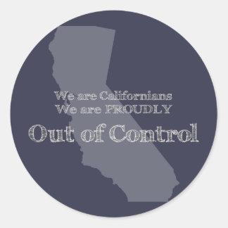 Sticker Rond Nous sommes des Californiens que nous sommes