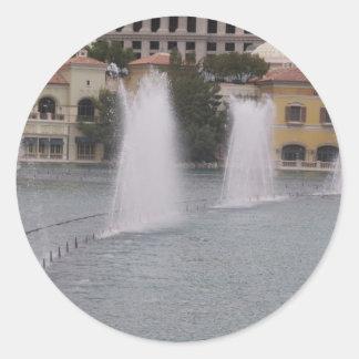 Sticker Rond Nouveaux bâtiments de canal de LAS VEGAS de
