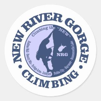 Sticker Rond Nouvelle gorge de rivière (escalade)