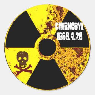 Sticker Rond Nucléaire commémoratif de Chernobyl anti
