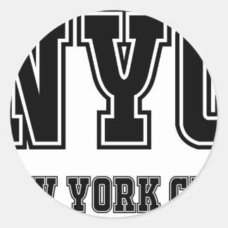 Sticker Rond NYC New York City