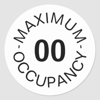 Sticker Rond Occupation maximum