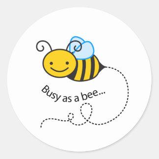 Sticker Rond Occupé comme abeille
