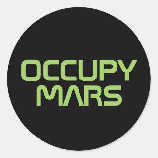 """STICKER ROND """"OCCUPEZ MARS """""""