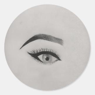 Sticker Rond Oeil du spectateur