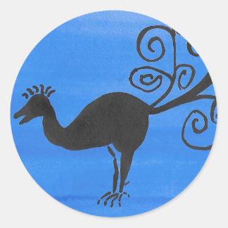 Sticker Rond Oiseau fantastique