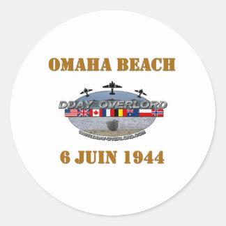 Sticker Rond Omaha Beach 1944